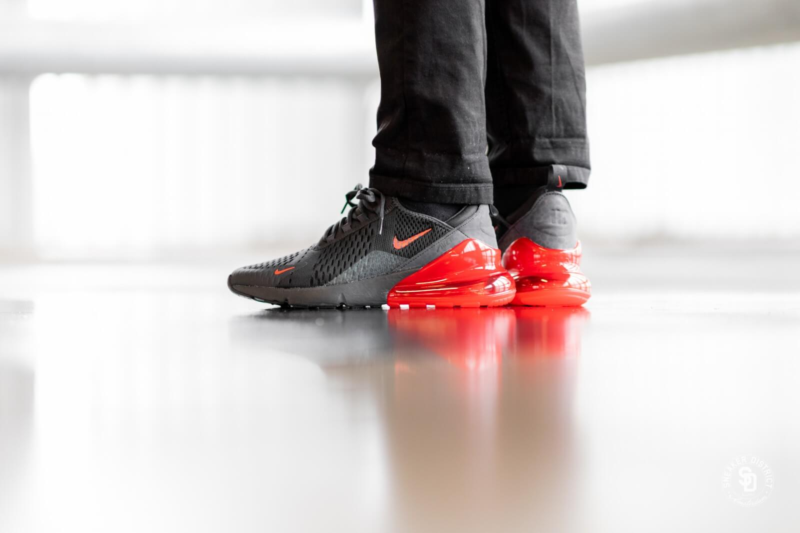 Nike Air Max 270 Oil GreyHabanero Red For Sale