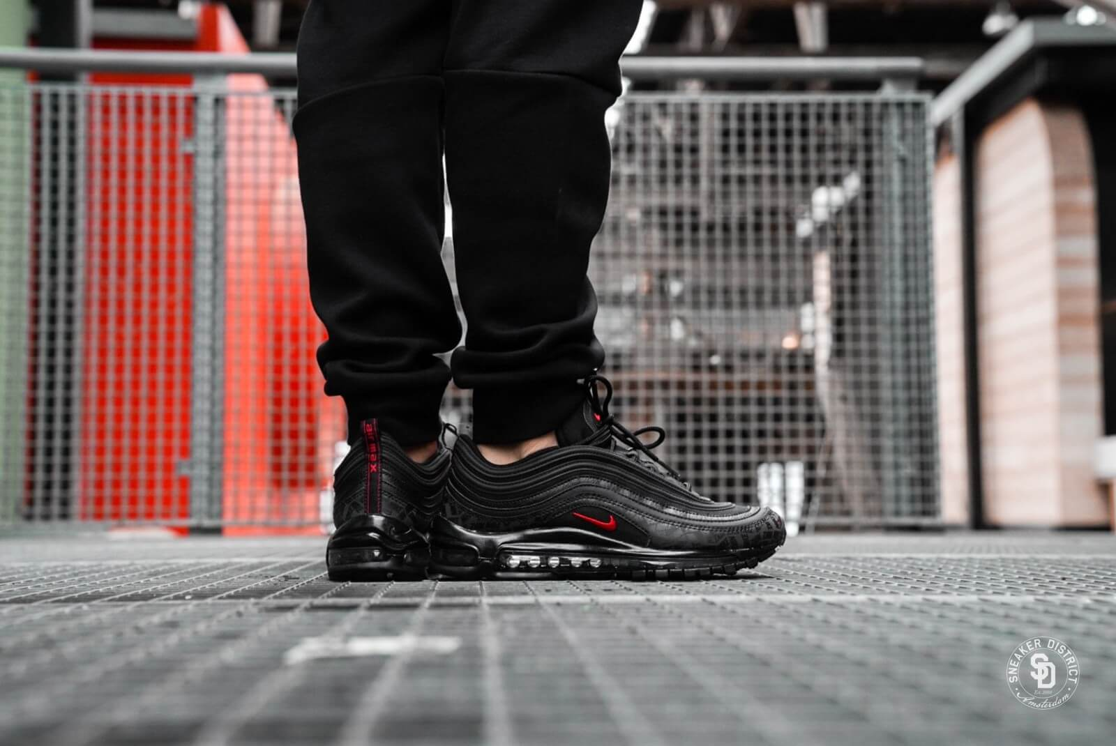 nike shoes air max 97 black and red