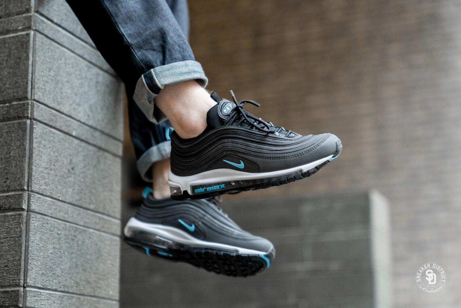 Nike Air Max 97 Black Blue Fury Dark Grey Bv1985 001