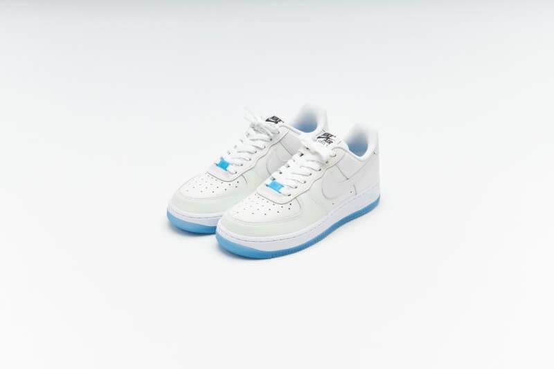 Nike Women's Air Force 1 '07 LX UV Reactive White / University Blue - Black