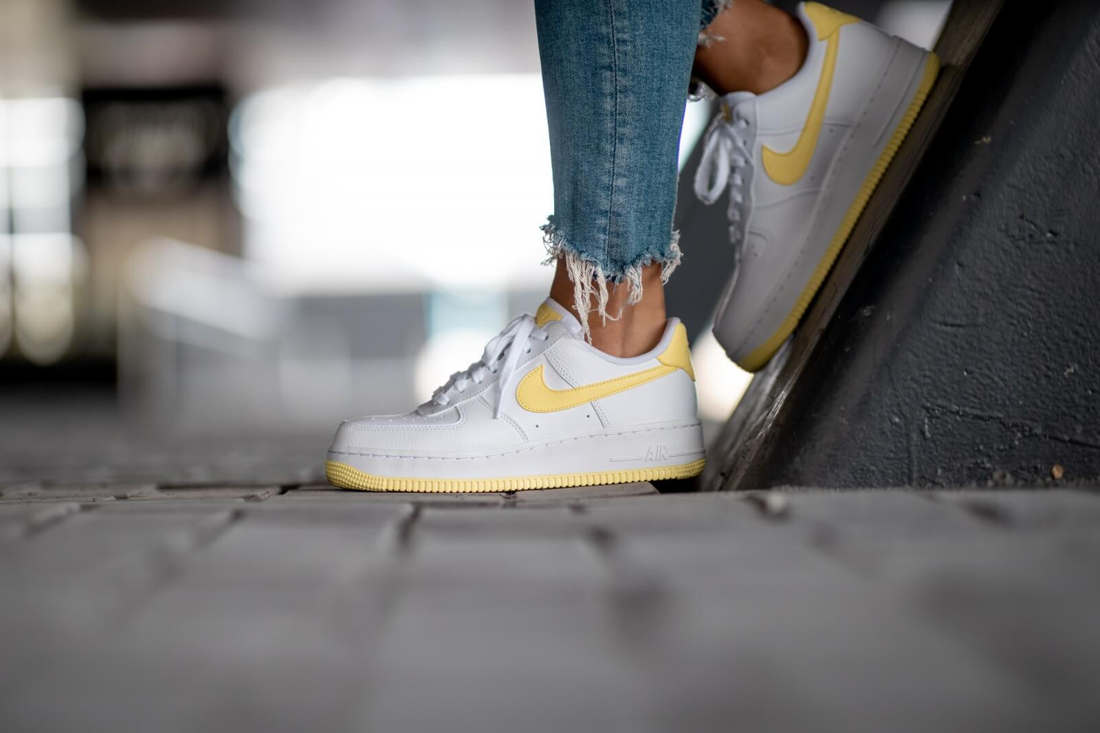 nike air force white yellow