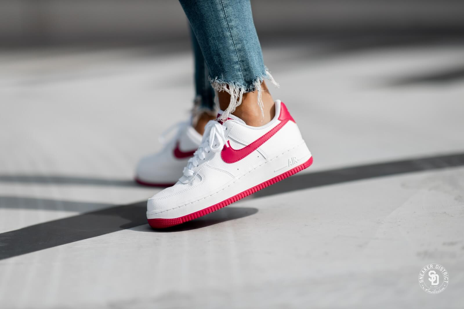 Nike Air Force 1 '07 WhiteWhite Noble Red Wild Cherry For Sale