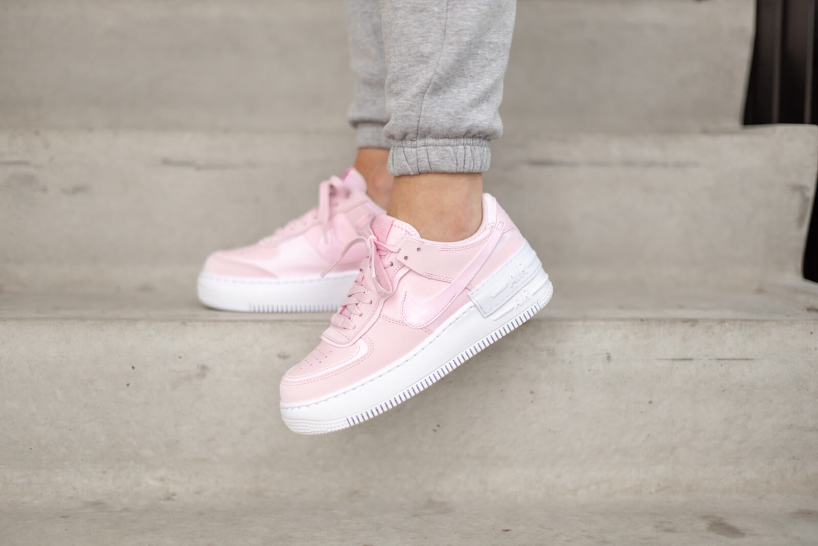 Nike Women S Air Force 1 Shadow Pink Foam White Cv3020 600