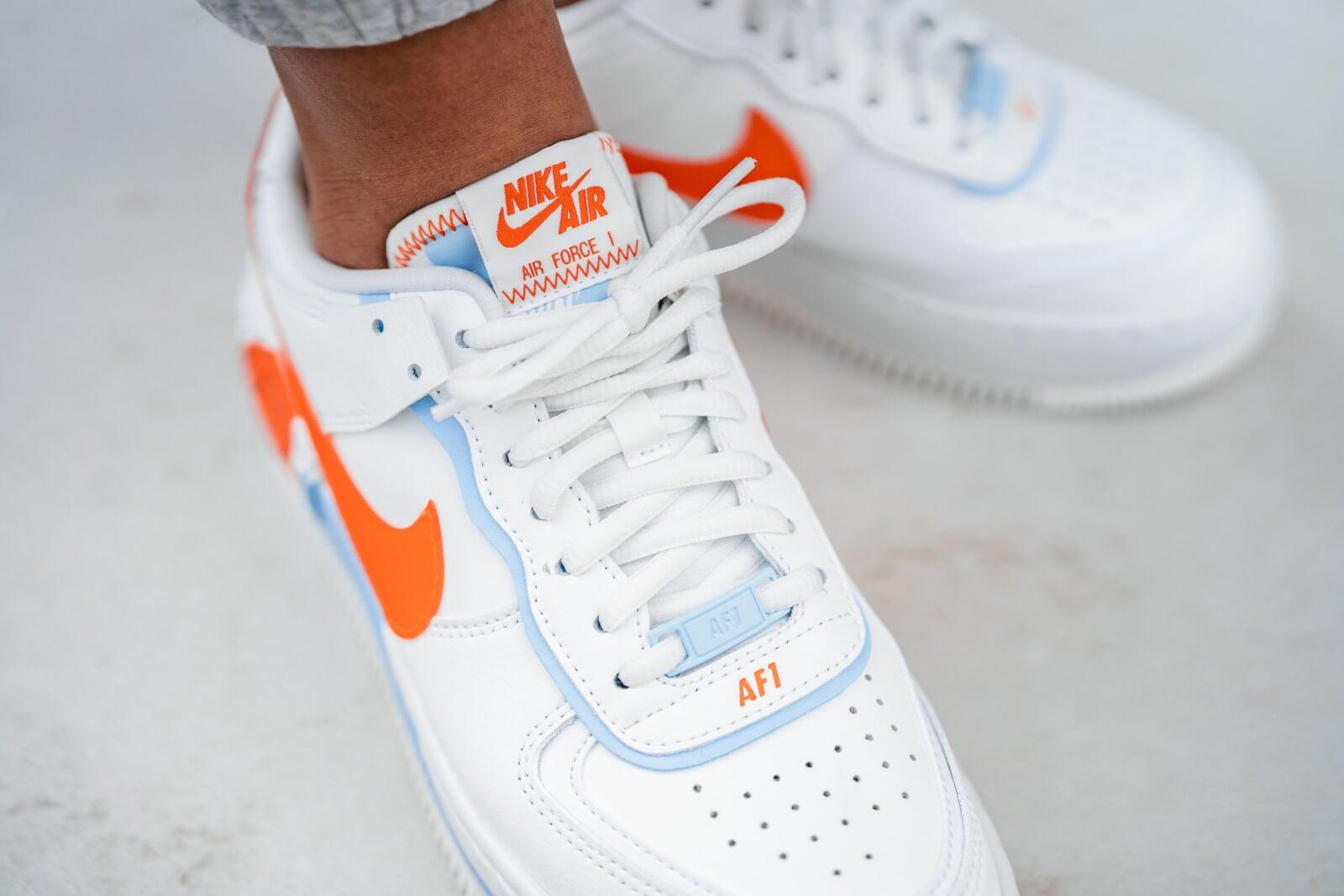Nike Women S Air Force 1 Shadow Se Summit White Team Orange