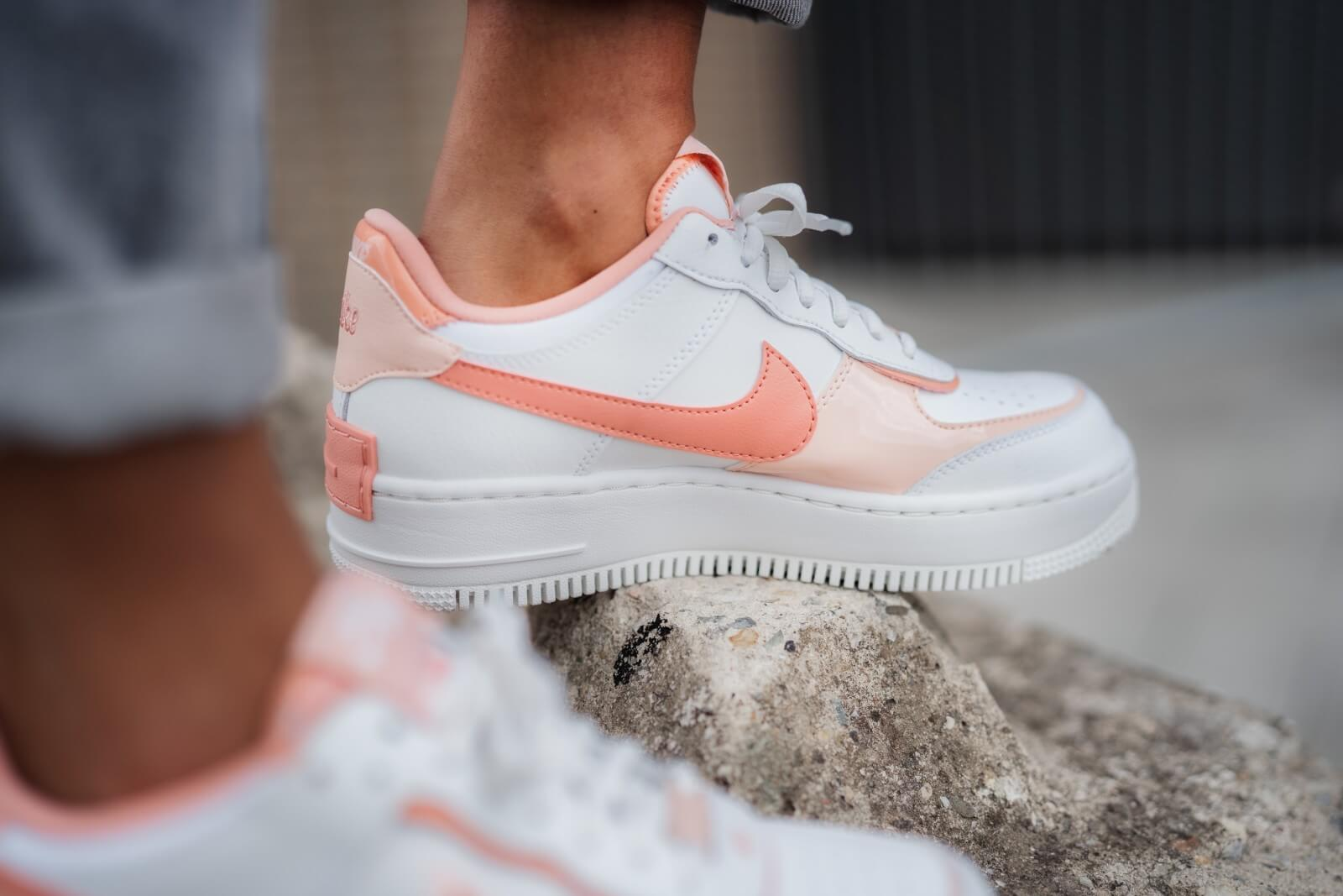 Nike Women S Air Force 1 Shadow Summit White Pink Quartz Washed