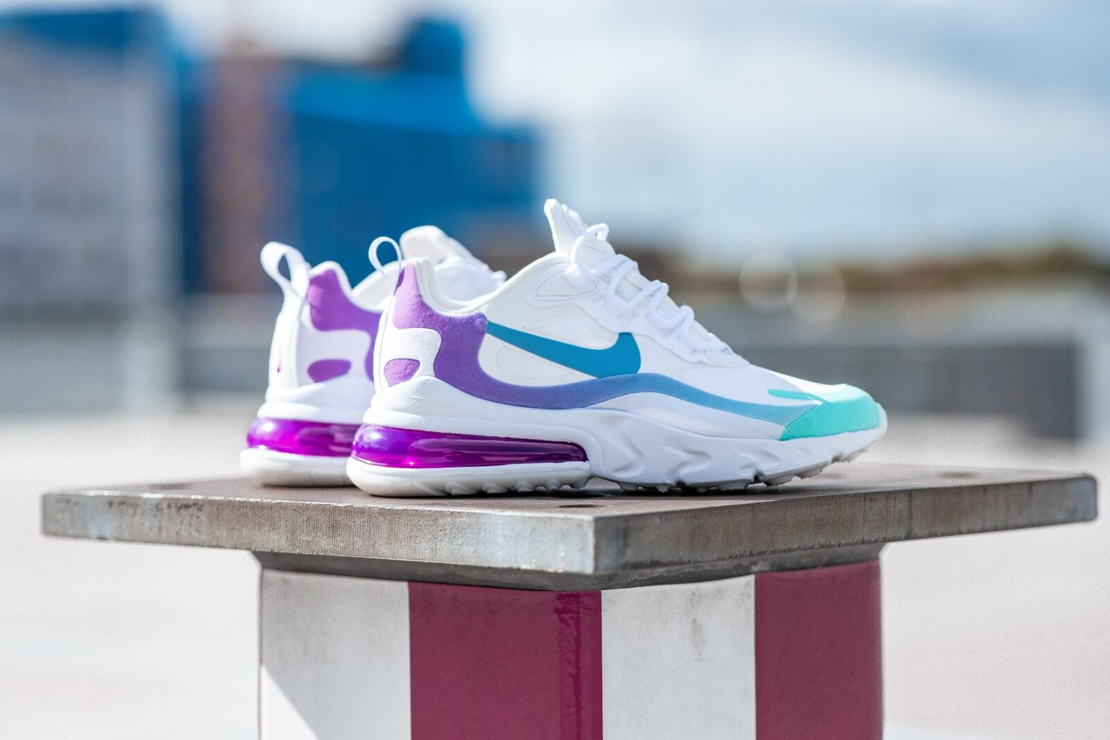 Air Max 270 React White Purple Off 74 Www Gentlementours Hu