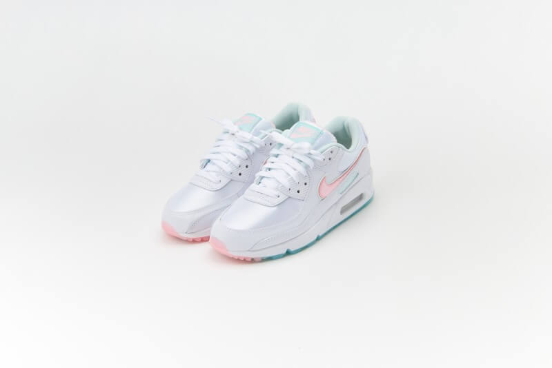 Nike Women's Air Max 90 White/Arctic Punch-Barely Green