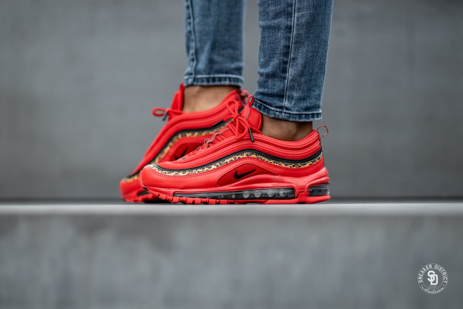 women's nike air max 97 casual shoes red