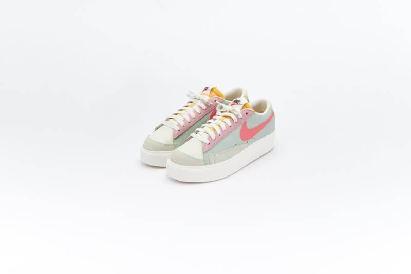 Nike Women's Blazer Low Platform Seafoam/Pink Salt-Sea Glass-Saturn Gold