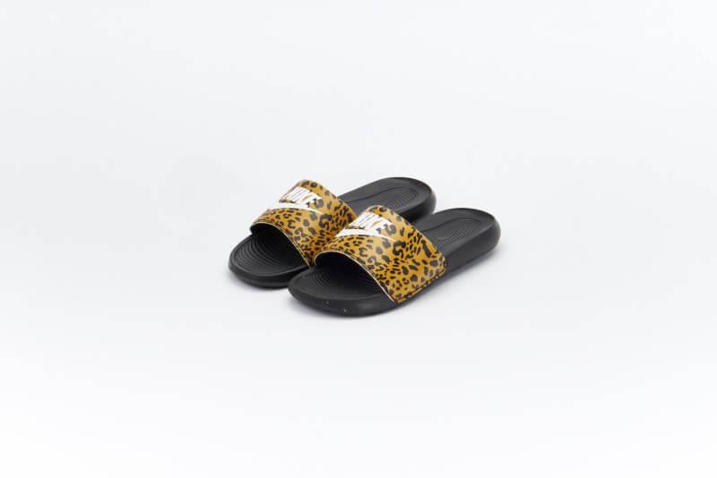 Nike Women's Victori One Slide Animal Print Chutney/Black