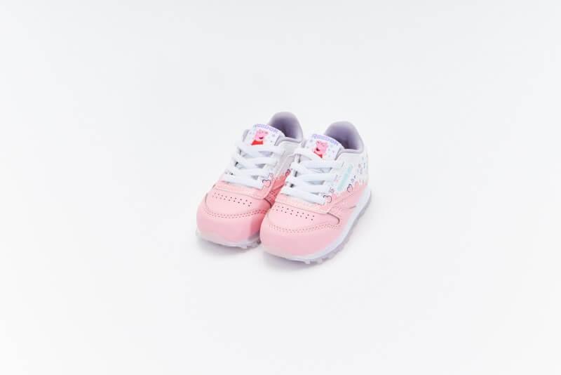 Reebok x Peppa Pig CL Leather Light Pink/Footwear White-Purple Glow