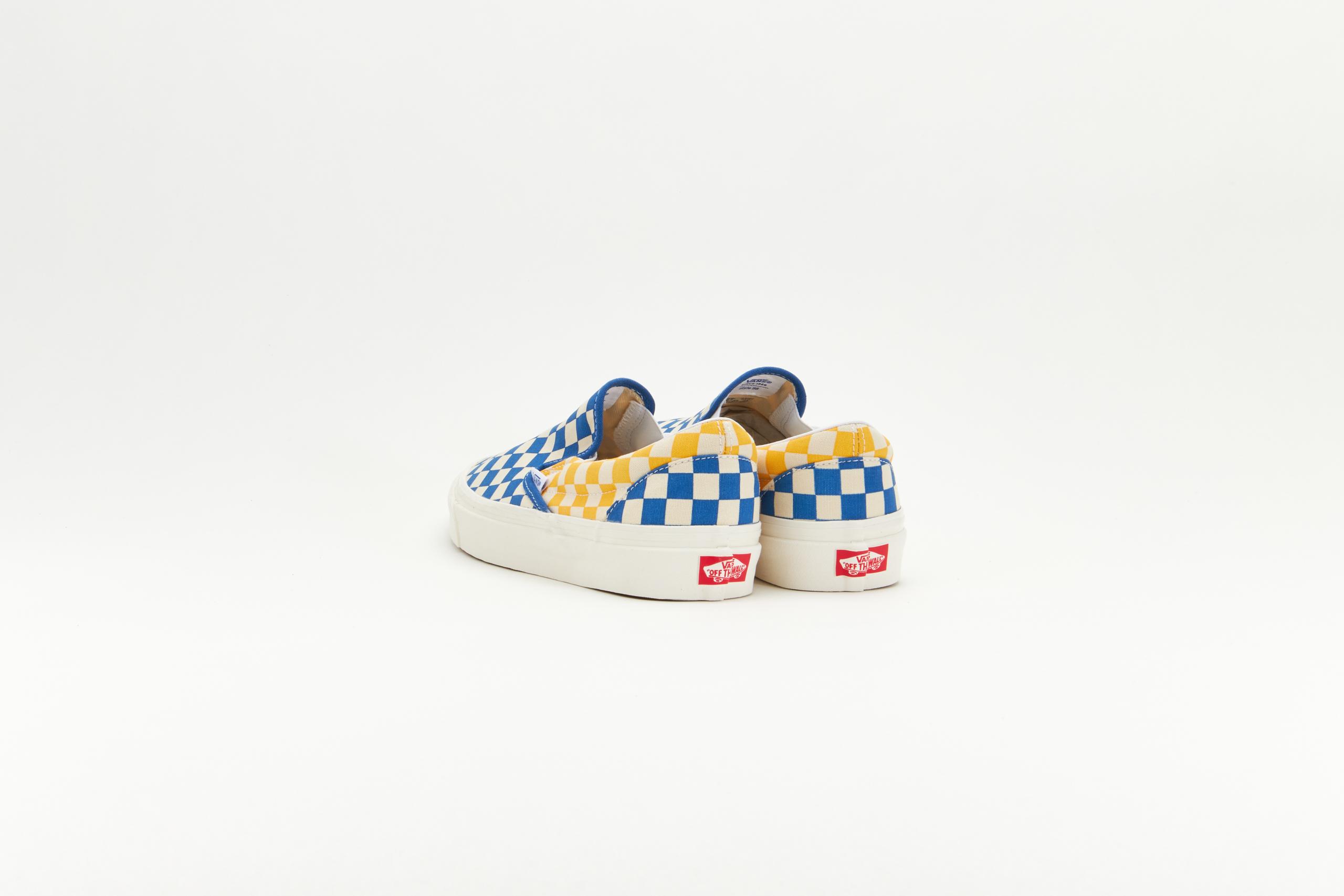 Vans Classic Slip-On 9 Anaheim Factory OG Blue/OG Yellow-OG Checker