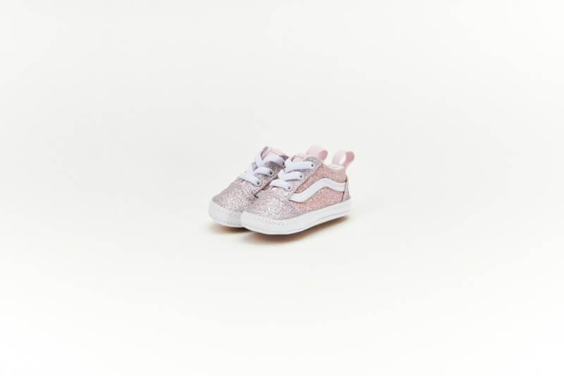 Vans Old Skool Crib 2 Tone Glitter/ Powder Pink