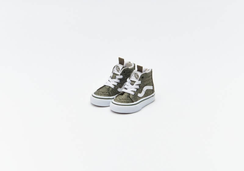 Vans Sk8-Hi Zip Glitter Grape Leaf / True White