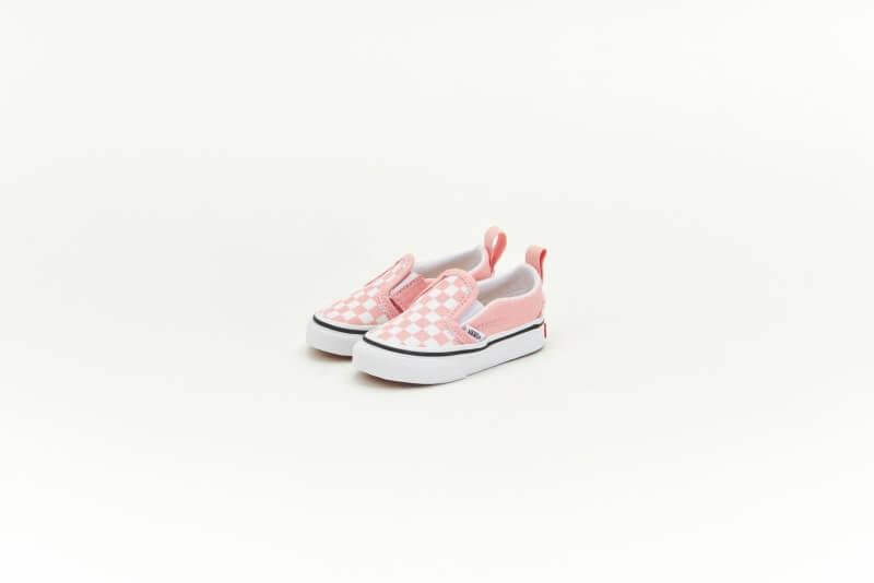 Vans Slip-On V Checkerboard Powder Pink/True White