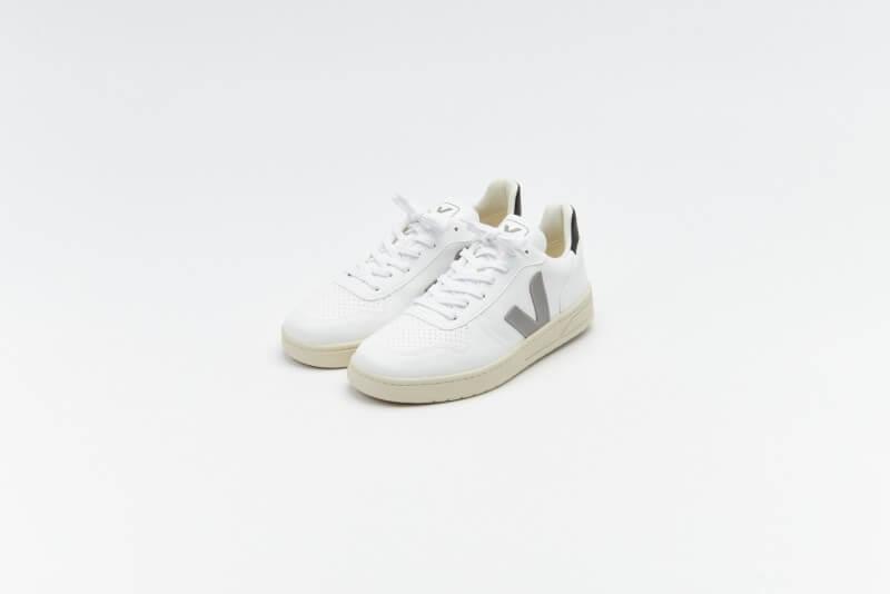 Veja V-10 CWL White / Oxford Grey / Black